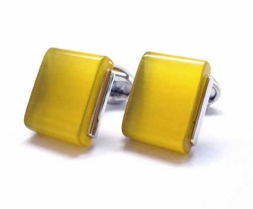 silver-yellow-slip-stone-polished-wedge-cufflinks-cuff-links-whale-tail-backing