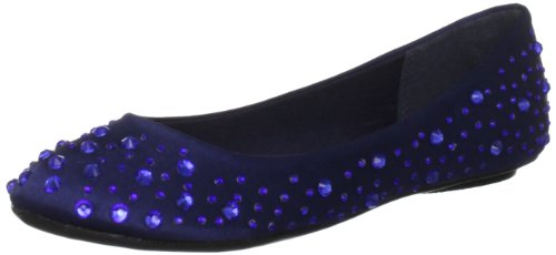 Miss KG Women's Hilly Blue Mules Flats 3082280759