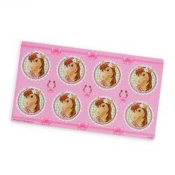 Pink Cowgirl Small Lollipop Sticker Sheet (Sold by 1 pack of 24 items) PROD-ID : 1886700 (Pink Cowgirl Small Lollipop Sticker Sheet)