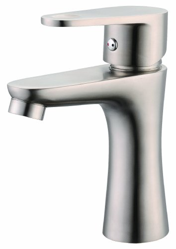 Faucet_shop Europe Modern New Bathroom Basin Sink Vessel Faucet Stainless Steel Brushed Nickel 8 Years Warranty