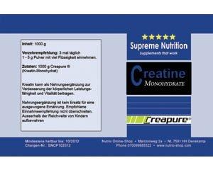 Kreatin / Creatin Pulver mit Creapure ® 1kg