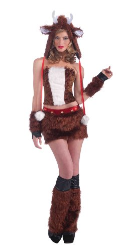 Forum Novelties Women's Furry Favorites Red Hot Reindeer Costume
