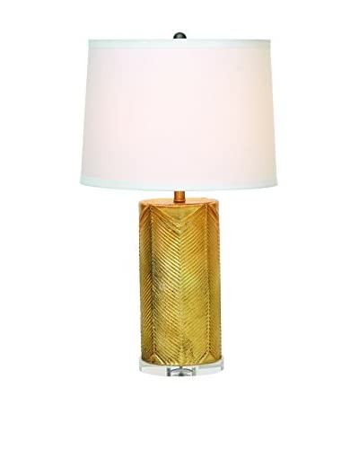 City Scape Westwood Gold Lamp With Cream Shade, Gold