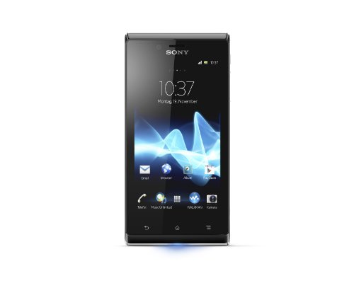Sony Xperia J Smartphone (10,2 cm (4 Zoll) Touchscreen, Cortex A5, 1GHz, 512MB RAM, 4GB, 5 Megapixel Kamera, Android 4.0) weiß