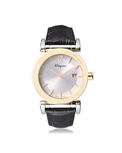 Salvatore Ferragamo Men's FP1860014 Salvatore Black/Silver Leather Watch