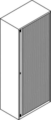 Bisley-et412102S-LG-103-cm-Euro-Tambour-Licht-Grau-Rolladen-mit-1-Regal-Schwarz