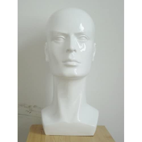 white shinning Male Man Mannequin Head for Display cap hat wig jewelry glasses sun glasses A11 B