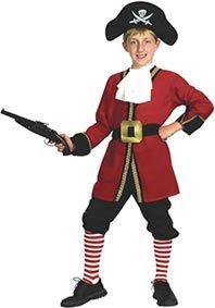 Pams of Gainsborough - Costume da Capitano uncino, ispirato alla storia di Peter Pan, per bambino