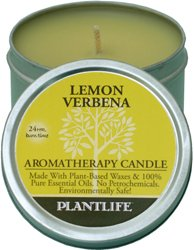 Lemon Verbena Aromatherapy Candle- Made with 100% Pure Essential Oils - 3oz Tin