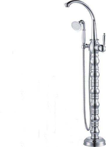 Rozinsanitary Floor Mounted Free Standing Bathroom Tub Faucet Single