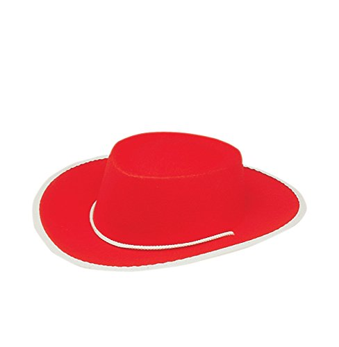 [Jacobson Hat Company Child's Permafelt Cowboy Costume, Red, Medium] (Child Red Cowboy Hat)