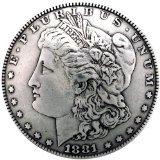 "Concho 1-3/8"" Antique Silver 1/Pkg-Morgan Dollar Heads"