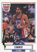 Lester Conner New Jersey Nets 1990 Fleer Autographed Hand Signed Trading Card. by Hall+of+Fame+Memorabilia
