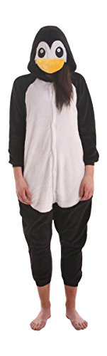 Funzoo Penguin Kigu Animal Suit Adult Onesie non Footed Pajamas Party Costume S-XL