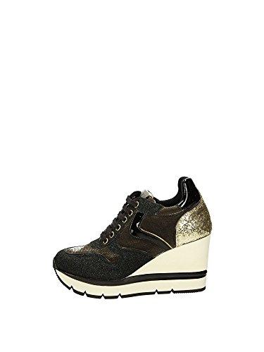 Voile Blanche JESSIE MICRO Sneakers Zeppa Donna Nero Oro 37