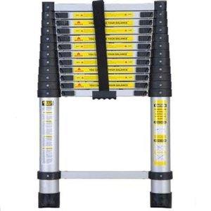 Xtremepowerus Portable 12.5' Aluminum Telescoping Extension Ladder