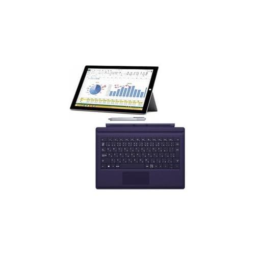 マイクロソフト 【期間限定】Surface Pro 3(Core i7/256GB)+ 純正タイプカバー(パープル) [Windowsタブレット・Office付き]