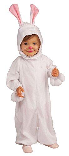 Forum Novelties Kids Fleece Bunny Rabbit Costume, Toddler, One Color front-671236