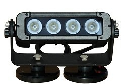 Adjustable Magnetic Mount Led Light Emitter - 4, 10-Watt Leds - 450'L X 75'W Spot Beam - 3440 Lumens