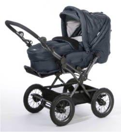 hoco bigfoot kinderwagen kombikinderwagen m tragetasche in navy blau baby. Black Bedroom Furniture Sets. Home Design Ideas