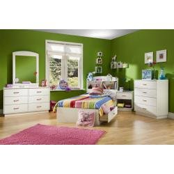 Cheap Kids Bedroom Furniture Set in Pure White – South Shore Furniture – 3360-BSET-1 (3360-BSET-1)