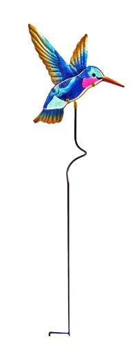 Continental Art Solar Hummingbird Garden Stake