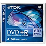 TDK DVD+R 16x 4.7GB Jewel Case (Pack of 5)