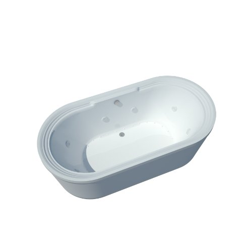 Sea Spa Tubs S3467Rd Tubs Royale 34 By 67 By 21-Inch Rectangular Air And Whirlpool Water Jetted Bathtub, White