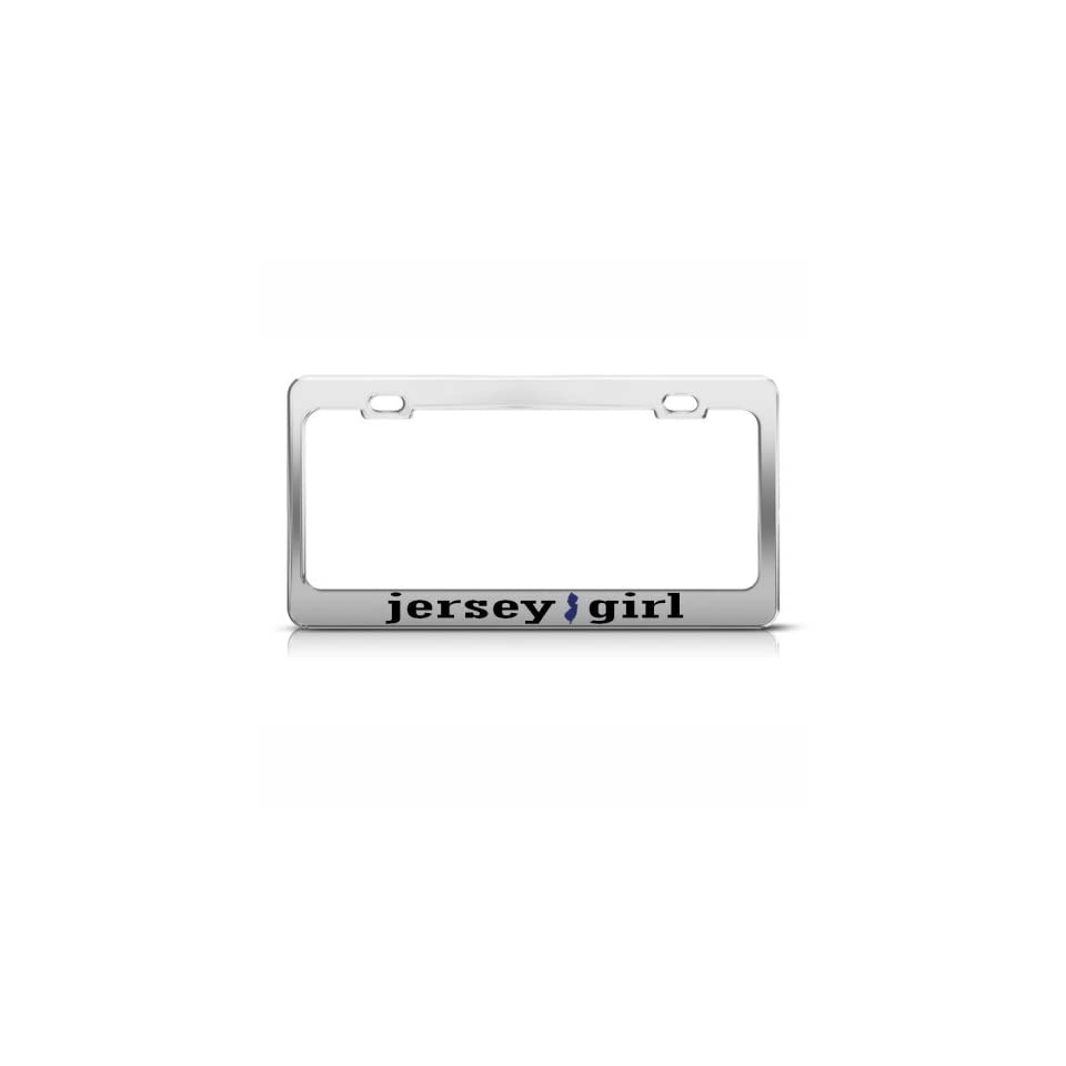 NEW JERSEY GIRL GARDEN STATE Metal License Plate Frame