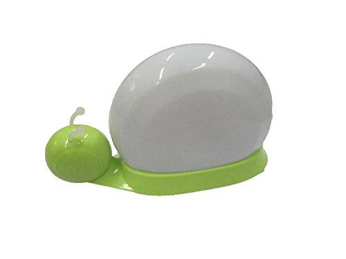JollyGift®Dreamlike7 Color Changeable Snail Touch Sensor LED Night Light Long Lasting Rechargeable Bed Light for Baby Kids,Children,Family Home Decoration ,Lovely Cute (Green)