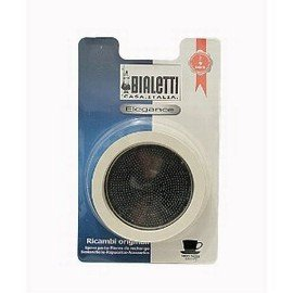 Bialetti 07013 Gasket and Stainless Filter Plate, 6 Cup