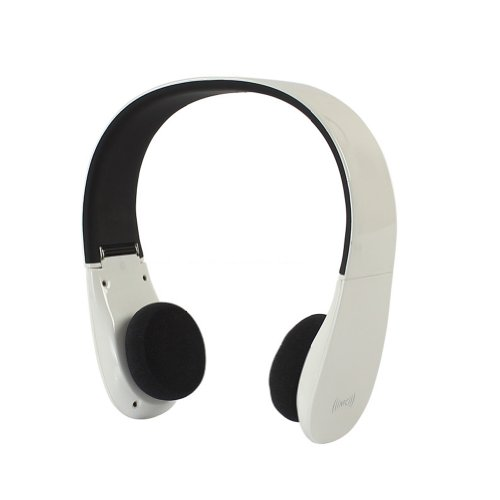 Sienoc Universal Nfc Bluetooth 2Ch Stereo Audio Wireless Headset Headphones With Microphone For Ipad Tablet Pc Smart Phone (White)