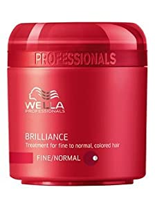 Wella Professionals Care Brilliance Mask - Fine/normal Hair 25 Ml Travel