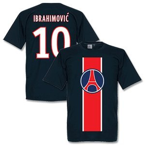 Paris Ibrahimovic Tee - Navy - S