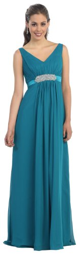 Party Prom Dress New Designer Long Gown #730 (8, Teal)