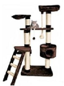 CAT TREE SCRATCHING POST TOYS SCRATCHER ACTIVITY CENTRE MEDIUM 76 X 46 X 162cm BROWN *BRAND NEW*