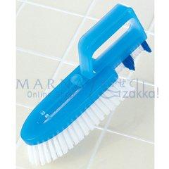 マーナ 掃除の達人 タイル&風呂ブタ洗いブラシ ブルー W258B