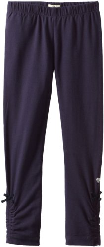 Hatley Little Girls' Rouched Leggings Navy, Blue, 8 back-1029012