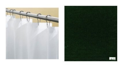 Carnation Home Fashions EXTRA LONG SHOWER CURTAIN LINER Black SC-84-16 at Sears.com