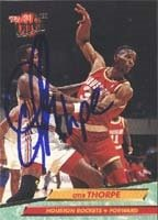 Otis Thorpe Houston Rockets 1993 Fleer Ultra Autographed Hand Signed Trading Card. by Hall of Fame Memorabilia