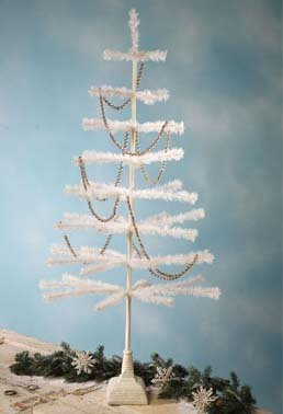 Bethany Lowe Ivory Feather Tree With Glittered Base 54?