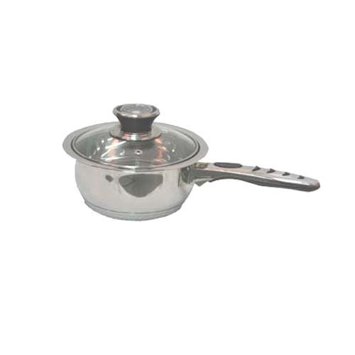Alpha Stainless Steel 1.8 Qt Stock Pot(sauce Pan) with Glass Lid