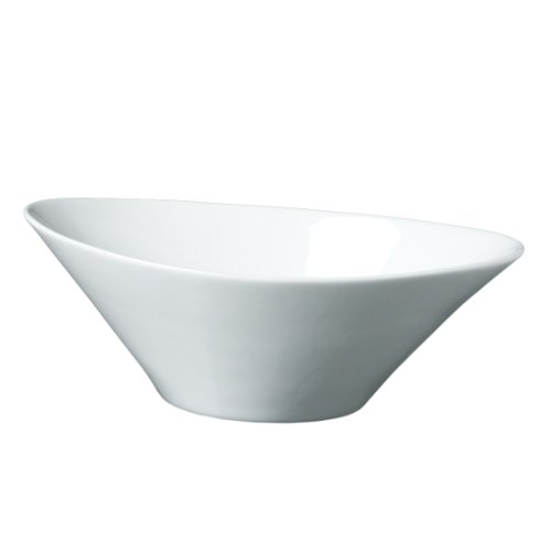 Fortessa Fortaluxe Superwhite Vitrified China 10-Inch Oval Serving Bowl Set Of 3
