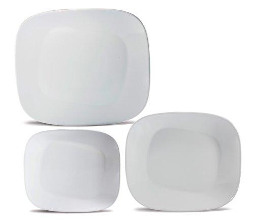 Karim Rashid Collection Porcelain Dinnerware Set With 12 Pieces - White