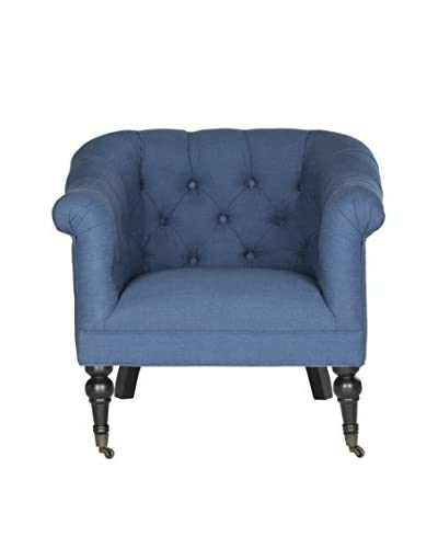 Safavieh Nicolas Club Chair, Steel Blue