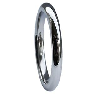 QUALITY UK Platinum 2mm Heavy Court / Comfort Wedding Ring 2.8g Size I