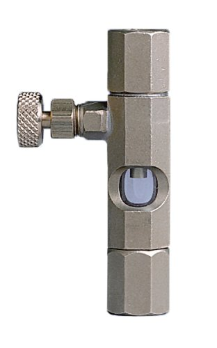 "Trico 32404 Brass Needle Valve With Right Angle Glass Sight, 1/4"" Npt Female"