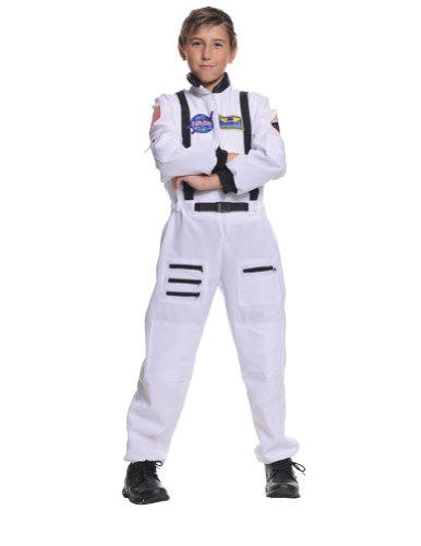 Astronaut White Child 6-8 Kids Boys Costume