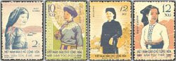 [Vietnam Stamps - 1960, Sc 112-5, VN Code # 63, Costumes of ethnic groups, MNH, F-VF] (Postage Stamp Costume)