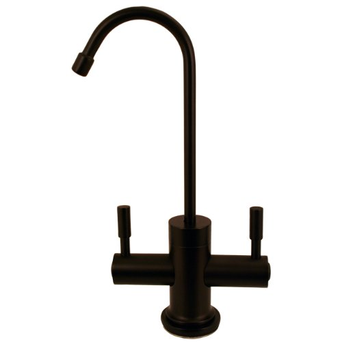 Westbrass D2051-12 Contemporary Hot/Cold Dispenser with Contemporary Bronze Two Handle Hot and Cold Water Dispenser Faucet, Oil Rubbed Bronze